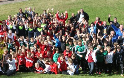 "Siegerehrung ""footballkids for nature""-Aktion 2012"